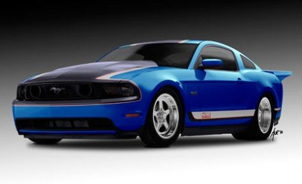 Picture of Ford Mustang GT: Muscle Mustangs and Fast Fords (2010 SEMA)