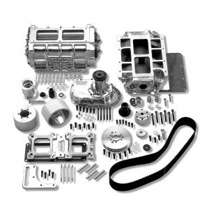 A Weiand 7482P Supercharger Kit